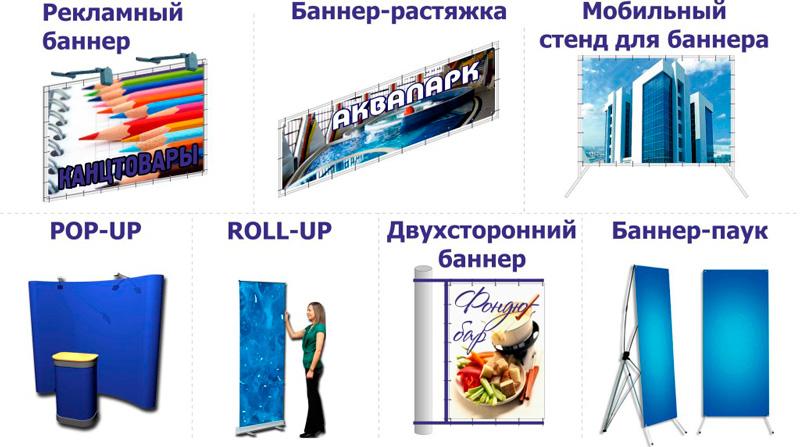 Статьи Виды рекламных стендов и баннеров